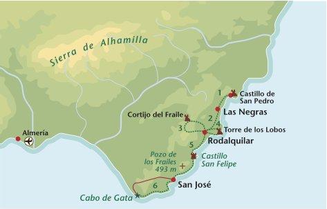 Wandelreis Spanje Cabo de Gata