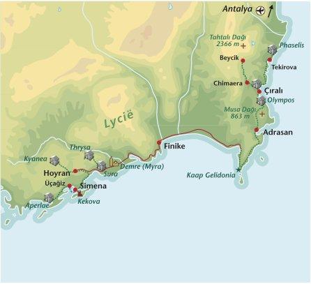 Wandelreis Turkije Oost Lycie