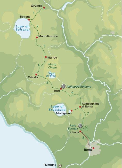 Wandelreis Italie Via Francigena