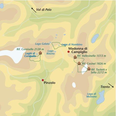 Wandelreis Italie Brenta Dolomieten & Val di Peio