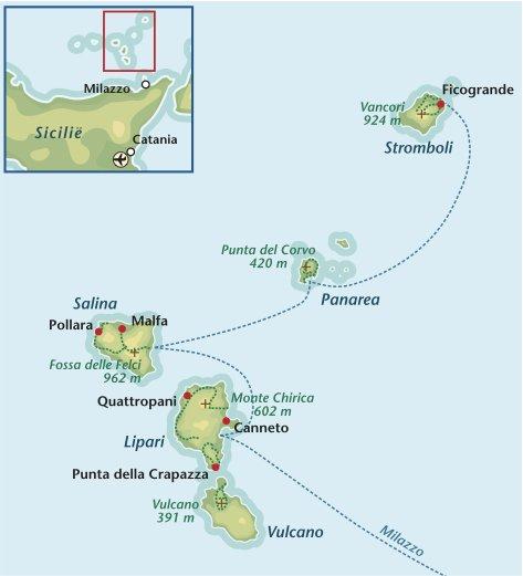 Wandelreis Italie Liparische eilanden
