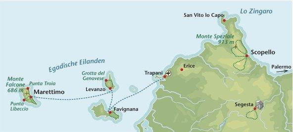 Wandelreis Italie Sicilie West