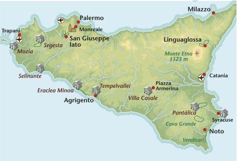 Wandelreis Italie Sicilie
