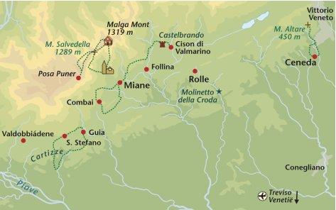 Wandelreis Italie Prosecco