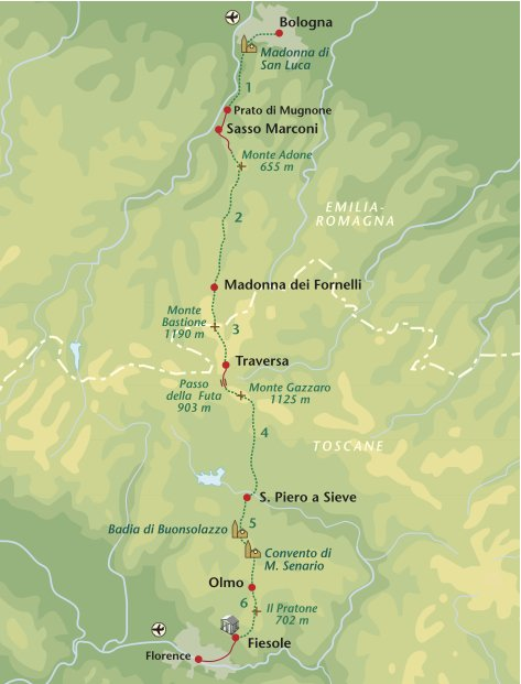 Wandelreis Italie Via Flaminia