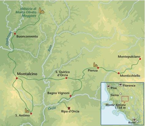 Wandelreis Italie Crete Senesi