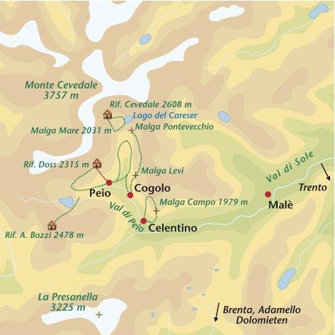 Wandelreis Italie Trentino