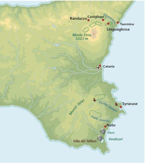 Wandelreis Italie Sicilie-Oost