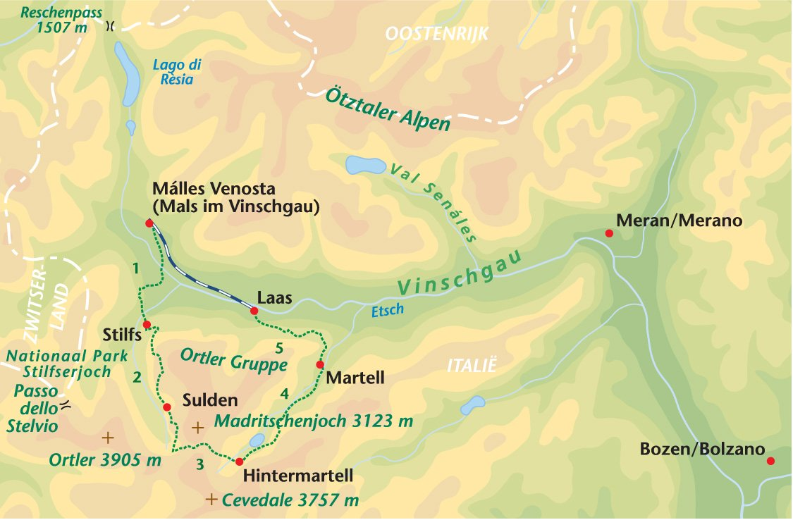 Zuid Tirol, Ortler