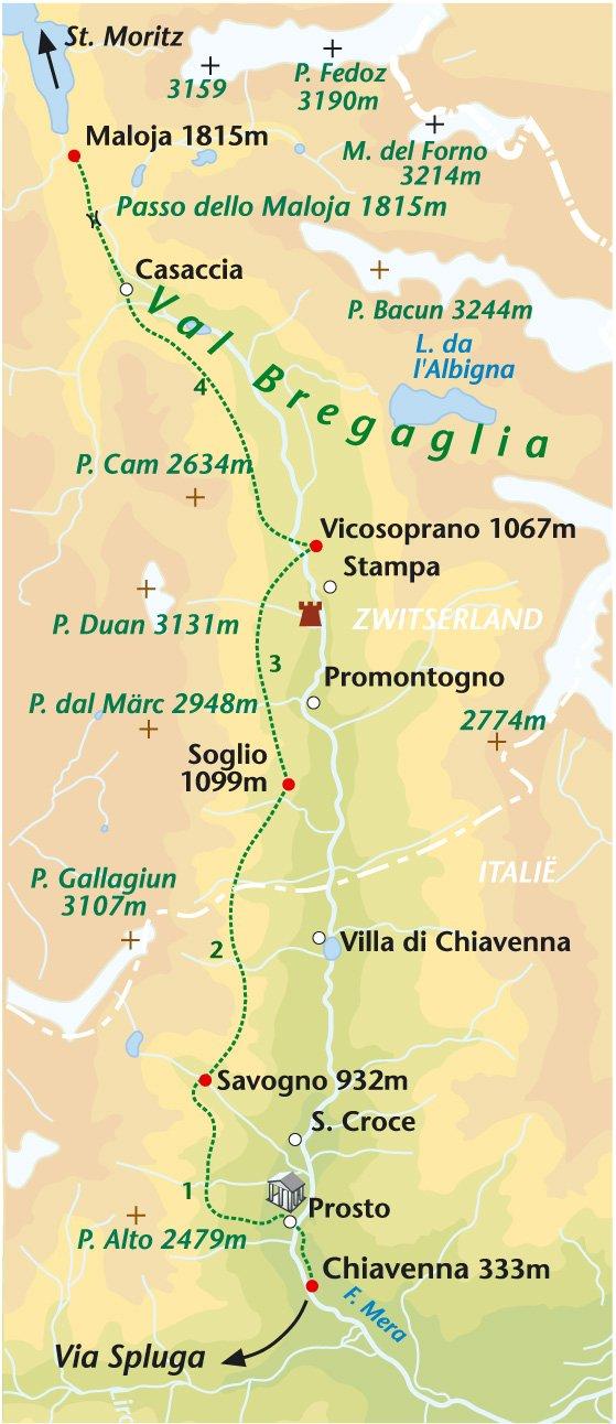 Wandelreis Italië, Via Bregaglia