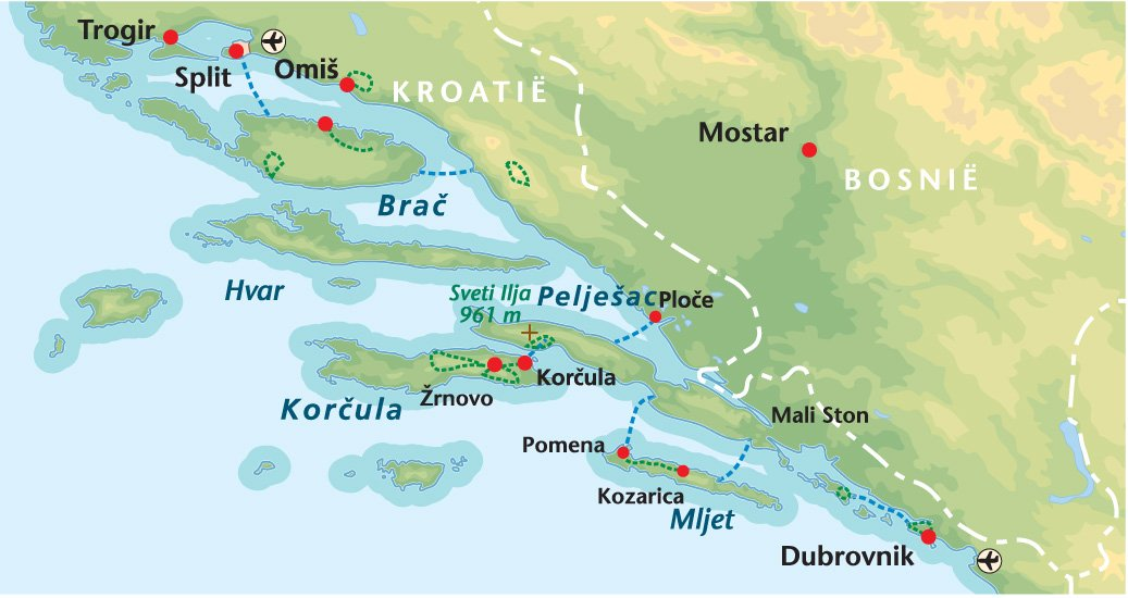 Wandelreis Kroatië Dalmatië