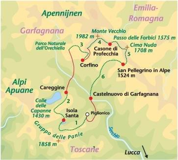 Wandelreis Garfagnana